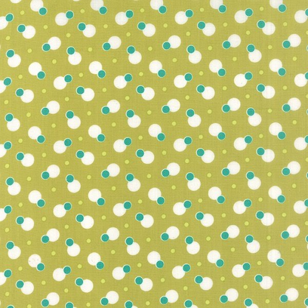 Simply Colorful II - Dot to Dot in Chartreuse by V & Co for Moda