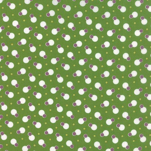 Simply Colorful II - Dot to Dot in Avocado by V & Co for Moda