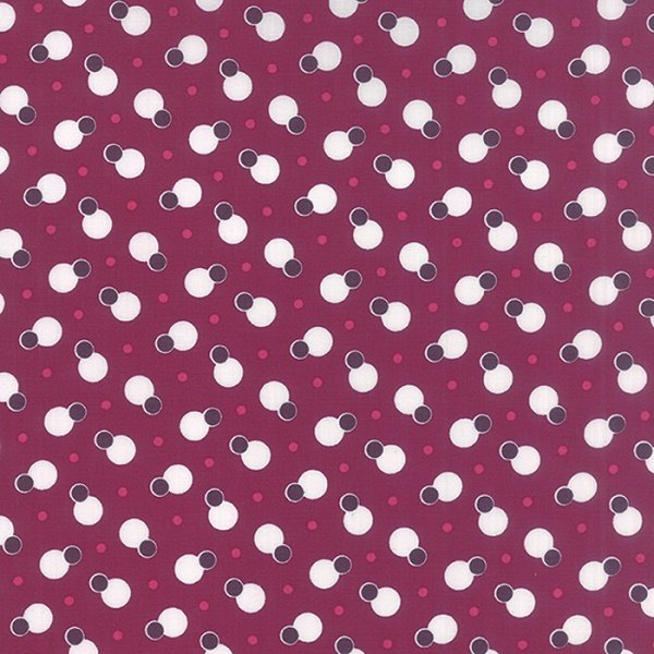 Simply Colorful II - Dot to Dot in Berry by V & Co for Moda