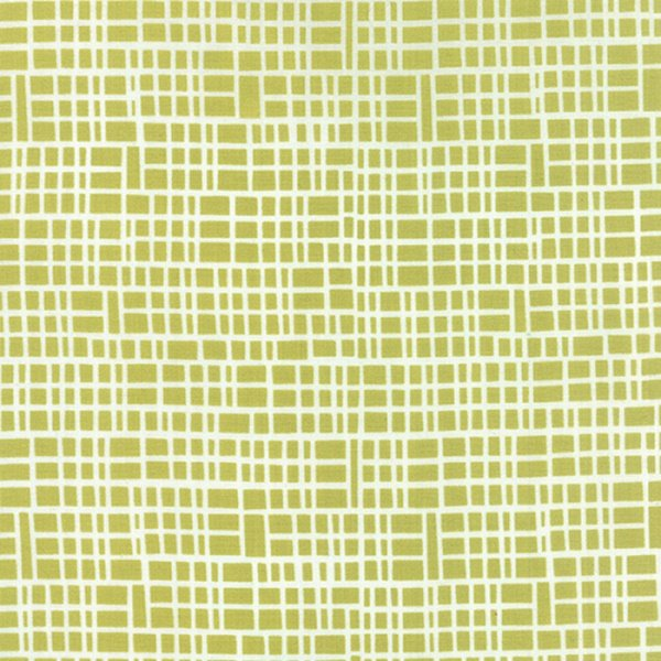 Simply Colorful II - Grid in Chartreuse by V & Co for Moda