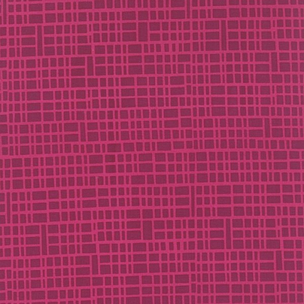 Simply Colorful II - Grid in Berry by V & Co for Moda