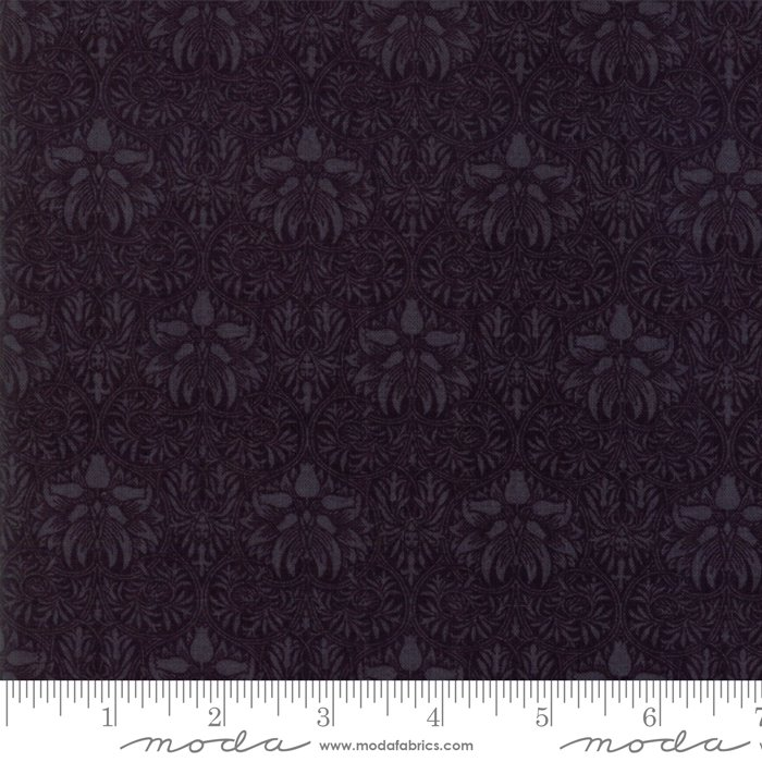 Morris Garden Wide Back (108) - Crown Imperical 1888 in Ebony by V and A Reproduction for Moda