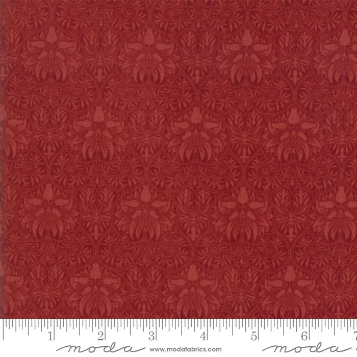 Morris Garden Wide Back (108) - Crown Imperical 1888 in Crimson by V and A Reproduction for Moda