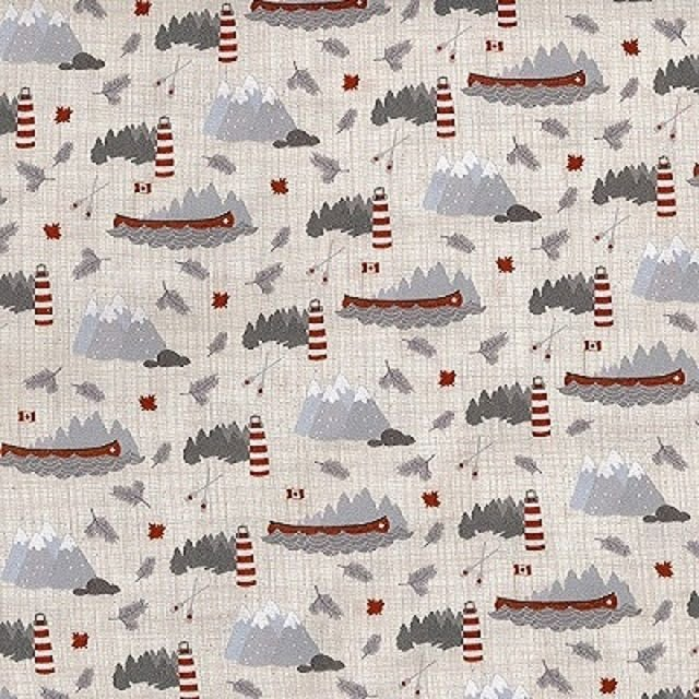 True North - Mountains to Lighthouses in Linen by Kate & Birdie Paper Co. for Moda