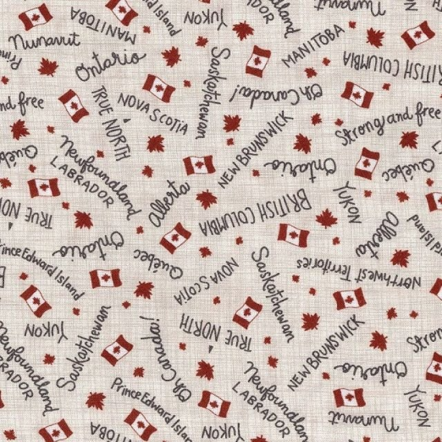True North - Provincial Names on Linen by Kate & Birdie Paper Co. for Moda