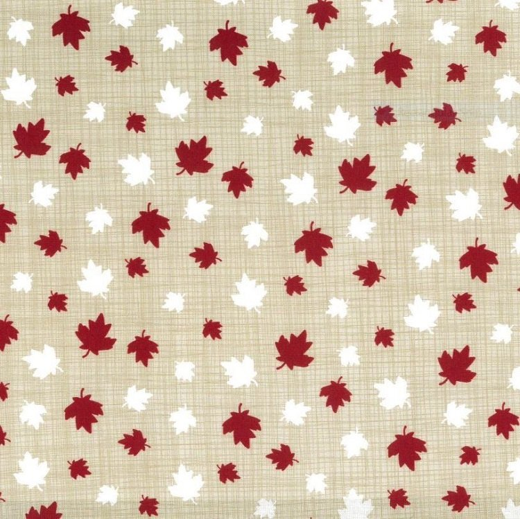 True North 2 - Multi Size Maple Leaves in Linen by Kate & Birdie Paper Co. for Moda