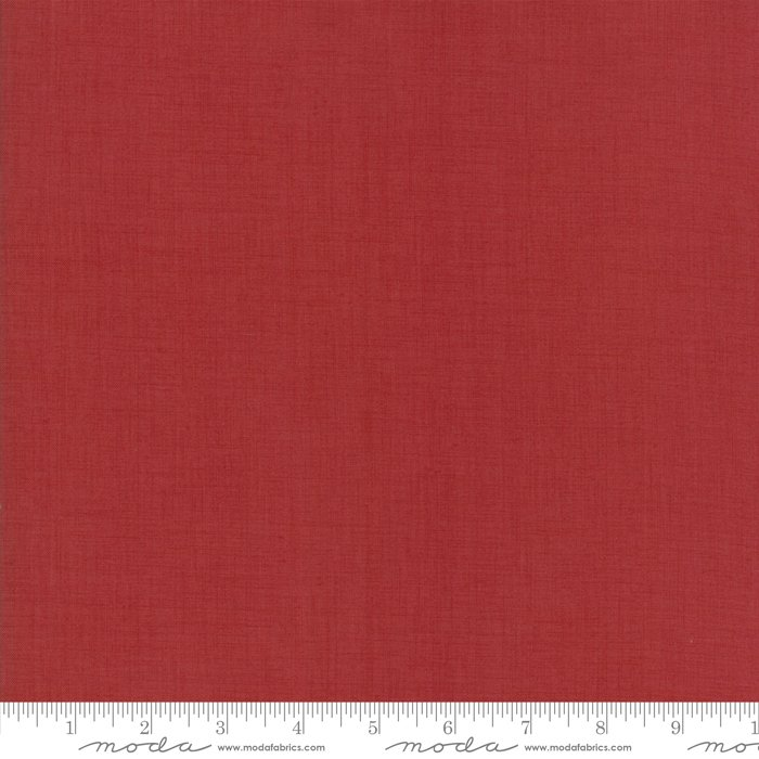 Jardin de Versailles - Linen Texture in Warm Rouge by French General for Moda