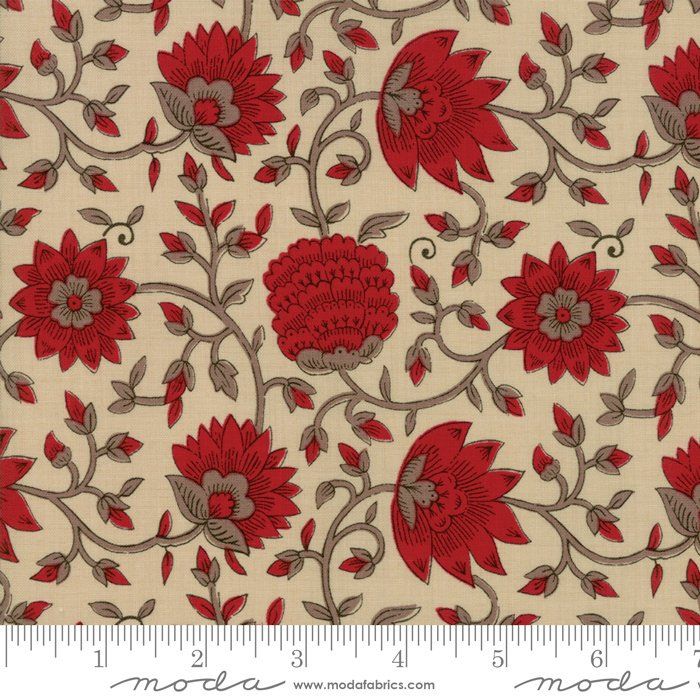 La Vie En Rouge - L'Amour in Pearl by French General for Moda
