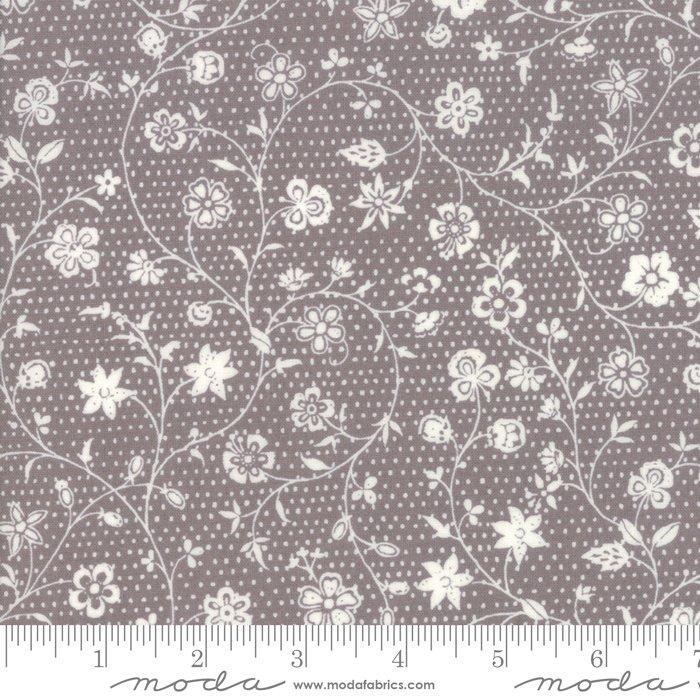 Fleur de Noel - Renoncule in Grey by French General for Moda
