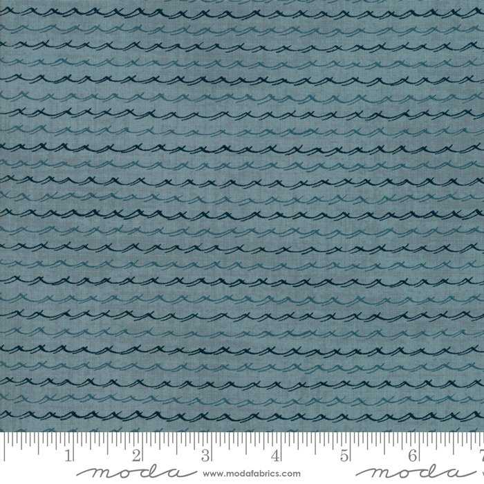 Ahoy Me Hearties - Wavelets in Wave by Janet Clare for Moda