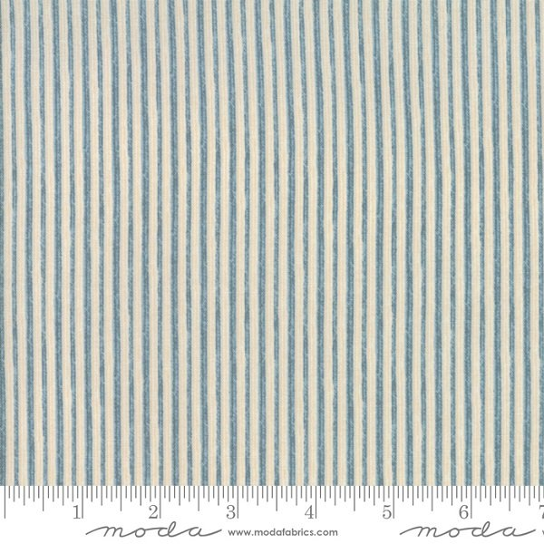 Ahoy Me Hearties - Jolly Stripe in Wave by Janet Clare for Moda