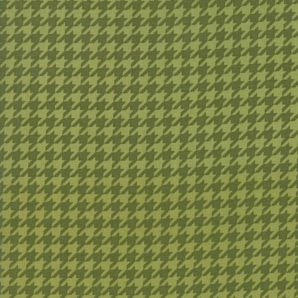 Snow Much Fun - Holiday Houndstooth in Pine Green by Deb Strain for Moda