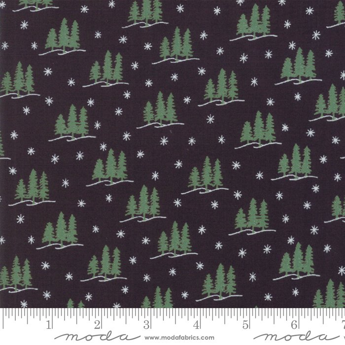 Holiday Lodge - Winter Woods in Charcoal by Deb Strain for Moda