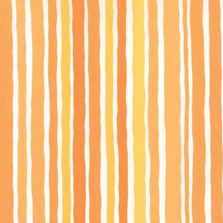 Dot Dot Dash - Wobbly Stripes in Orange by Me & My Sister for Moda