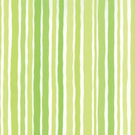 Dot Dot Dash - Wobbly Stripes in Green by Me & My Sister for Moda