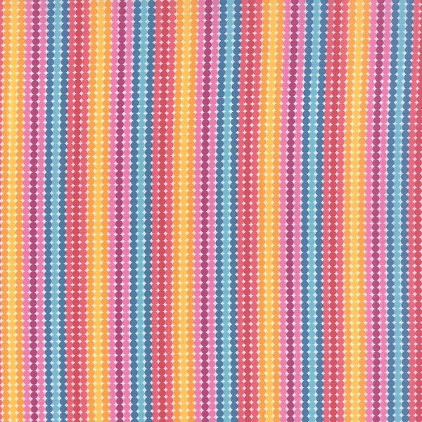 Meadowbloom - Dotty Stripe in Multi by April Rosenthal for Moda