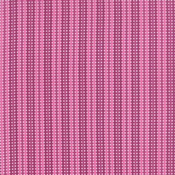 Meadowbloom - Dotty Stripe in Petunia by April Rosenthal for Moda