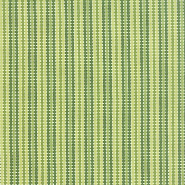 Meadowbloom - Dotty Stripe in Sprout by April Rosenthal for Moda