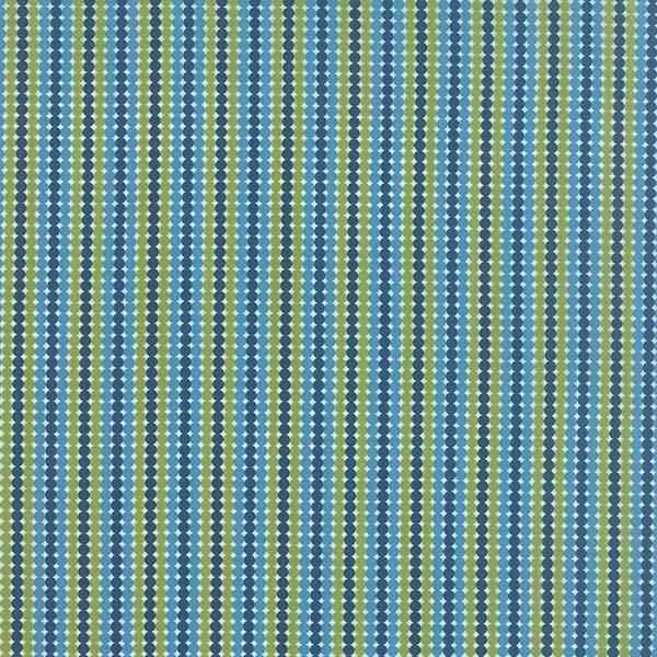 Meadowbloom - Dotty Stripe in Rain by April Rosenthal for Moda