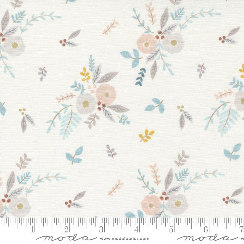 Little Ducklings - Floral Bouquet in White by Paper And Cloth for Moda