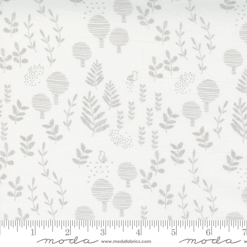 Little Ducklings - Meadow View in White by Paper And Cloth for Moda