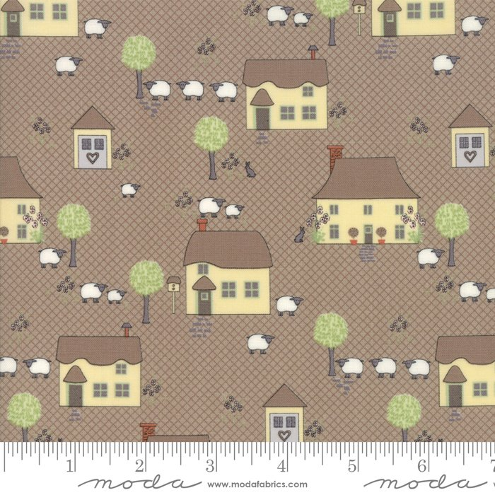 Cottontail Cottage - Novelty Houses in Cobblestone by Bunny Hill Designs for Moda