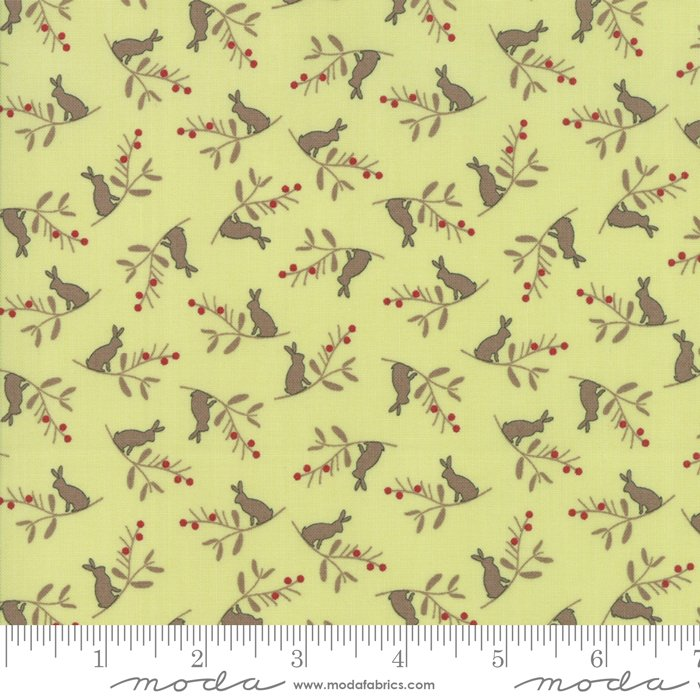 Cottontail Cottage - Bunny Branch in Meadow Green by Bunny Hill Designs for Moda