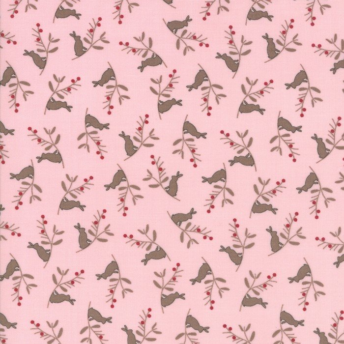 Cottontail Cottage - Bunny Branch in Primrose Pink by Bunny Hill Designs for Moda