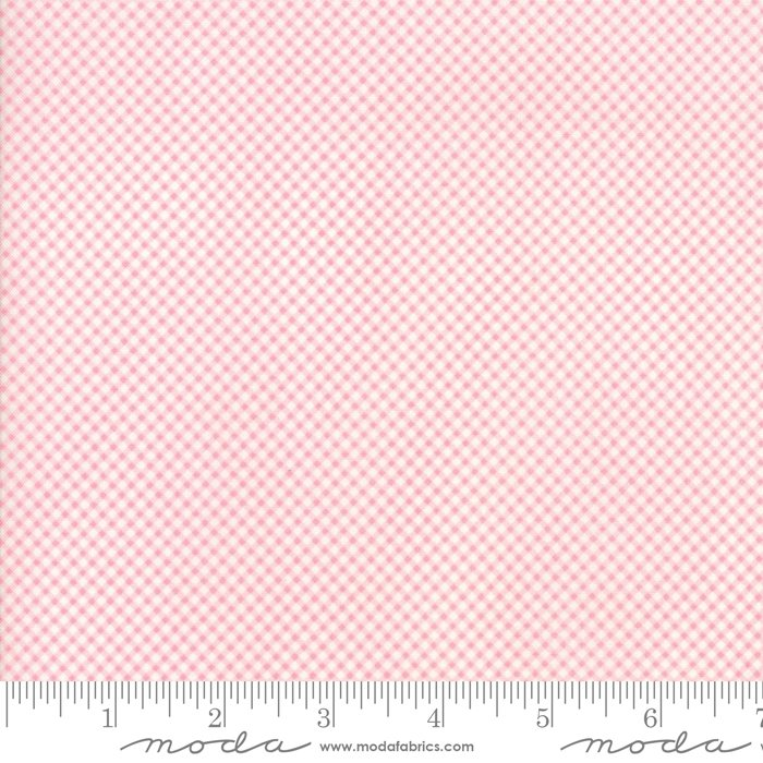 Cottontail Cottage - Tiny Gingham in Primrose Pink by Bunny Hill Designs for Moda