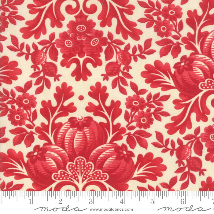Cinnaberry - Damask in Vanilla Cranberry by 3 Sisters for Moda