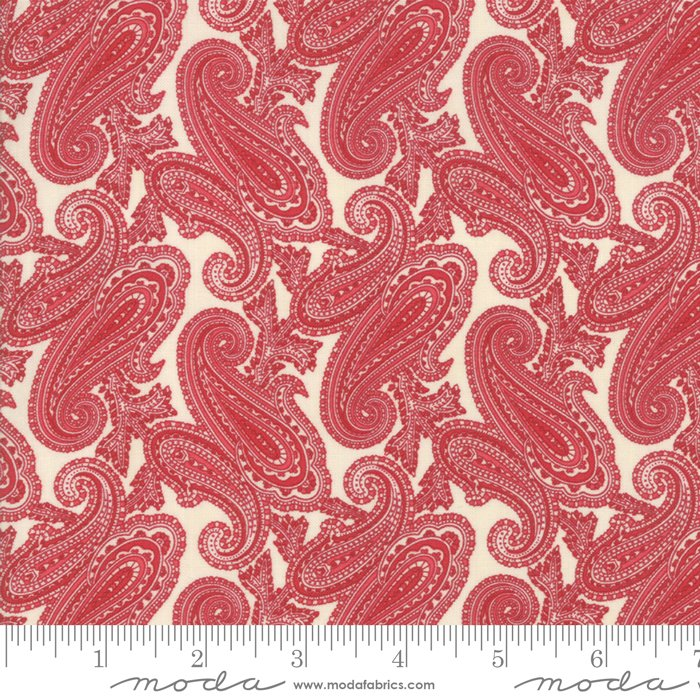 Cinnaberry - Paisley in Vanilla Cranberry by 3 Sisters for Moda