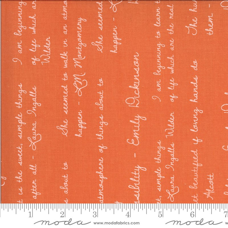Dwell in Possibility - Quotes in Poppy by Gingiber for Moda
