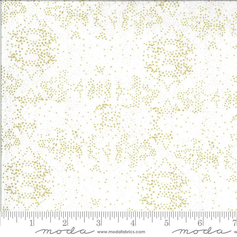 Dwell in Possibility - Fading Light in Ivory with Metallic by Gingiber for Moda