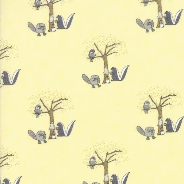 Hushabye Hollow - Skunk in Twinkle by Lydia Nelson for Moda