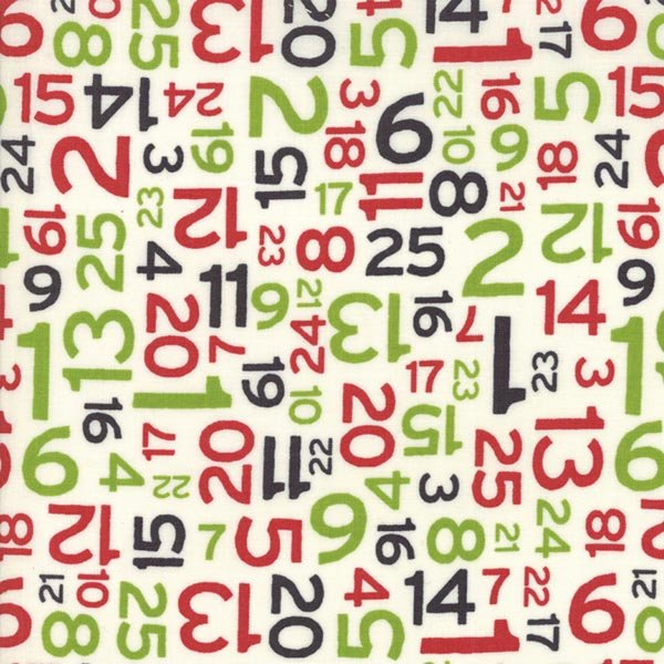 Hometown Christmas Edition - Countdown in Multi by Sweetwater for Moda