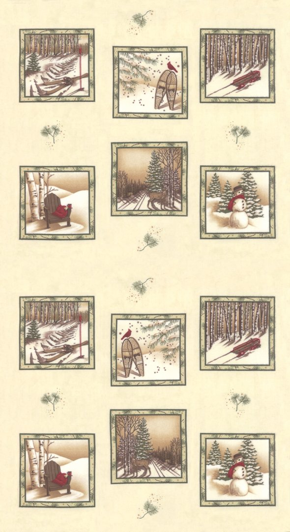 Panel - Frosted Flannels in Ivory (25 x 44) by Holly Taylor for Moda