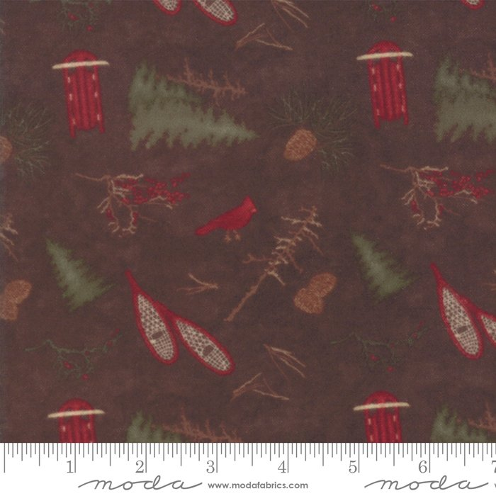 Frosted Flannels - Frosted Park in Walnut by Holly Taylor for Moda