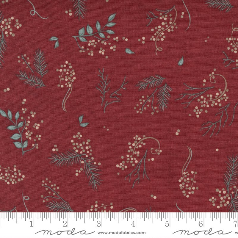 Warm Winter Wishes - Warm Wishes in Deep Red by Holly Taylor for Moda