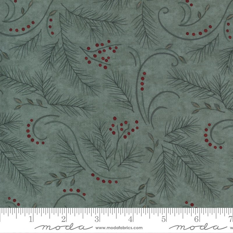 Warm Winter Wishes - Love and Hope in Sage by Holly Taylor for Moda