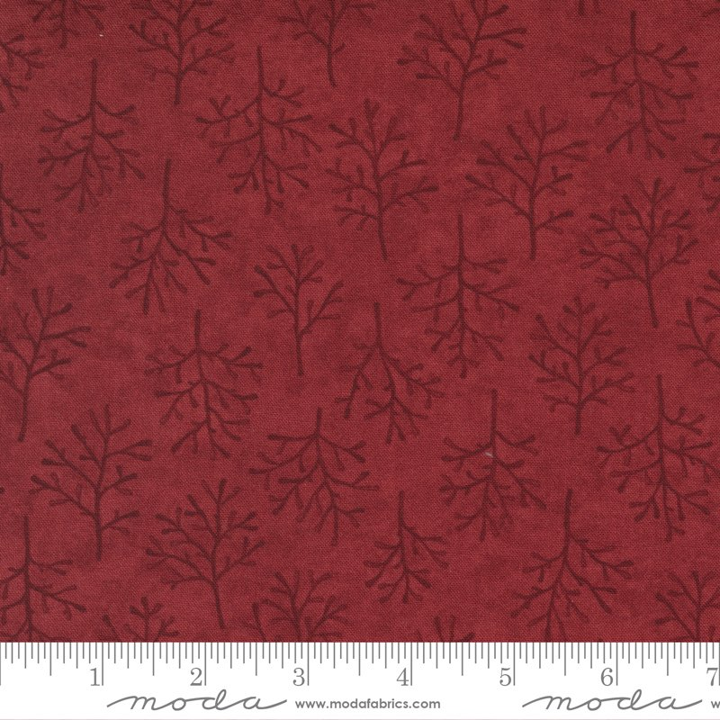 Warm Winter Wishes - Winter Trees in Deep Red by Holly Taylor for Moda