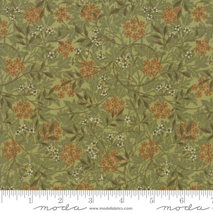 Morris Garden - Jasmine 1872 in Sage by V and A Reproduction for Moda