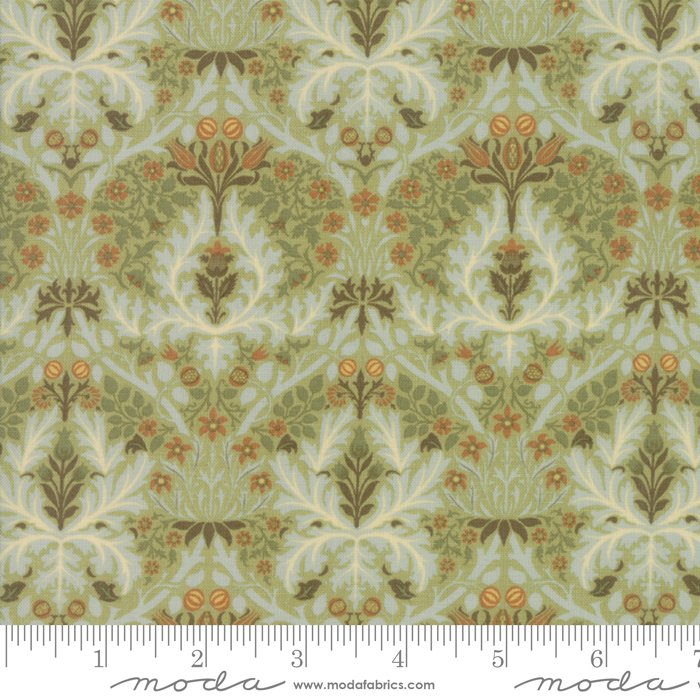Morris Garden - Autumn Flower 1888 in Sage by V and A Reproduction for Moda