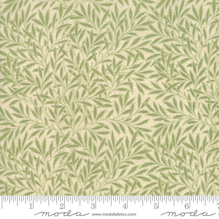 Morris Garden - Willow 1874 in Porcelain Sage by V and A Reproduction for Moda