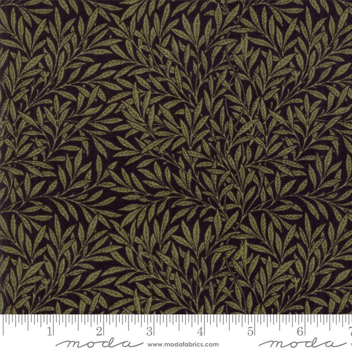 Morris Garden - Willow 1874 in Ebony by V and A Reproduction for Moda