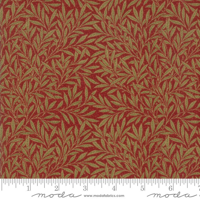Morris Garden - Willow 1874 in Crimson by V and A Reproduction for Moda
