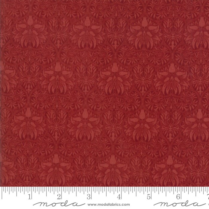 Morris Garden - Crown Imperical 1888 in Crimson by V and A Reproduction for Moda