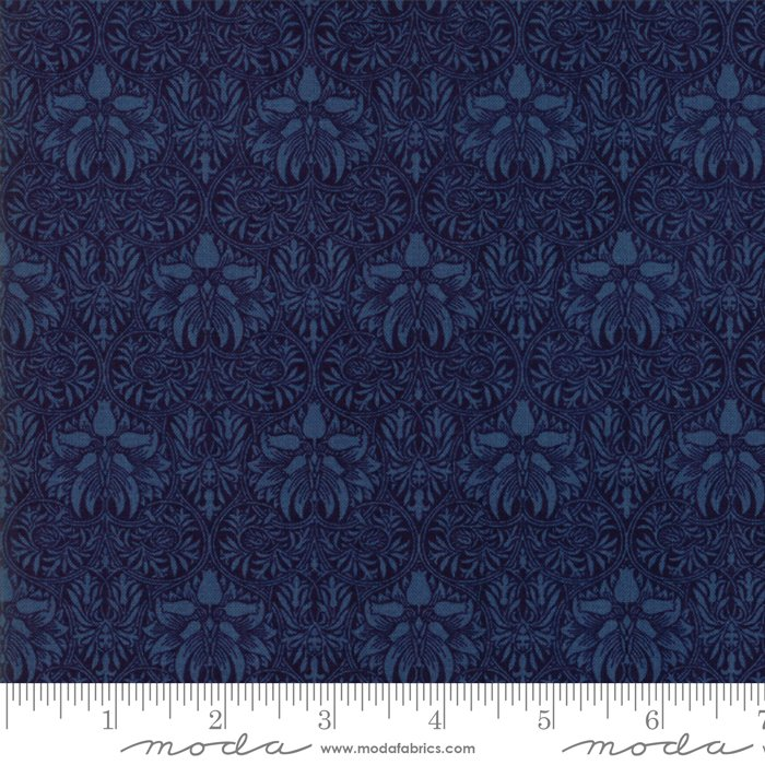 Morris Garden - Crown Imperical 1888 in Indigo by V and A Reproduction for Moda