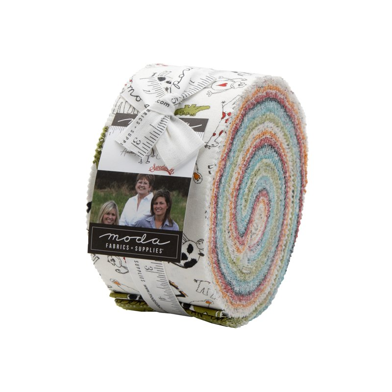 Jelly Roll - Animal Crackers (40 x 2.5 strips) by Sweetwater for Moda