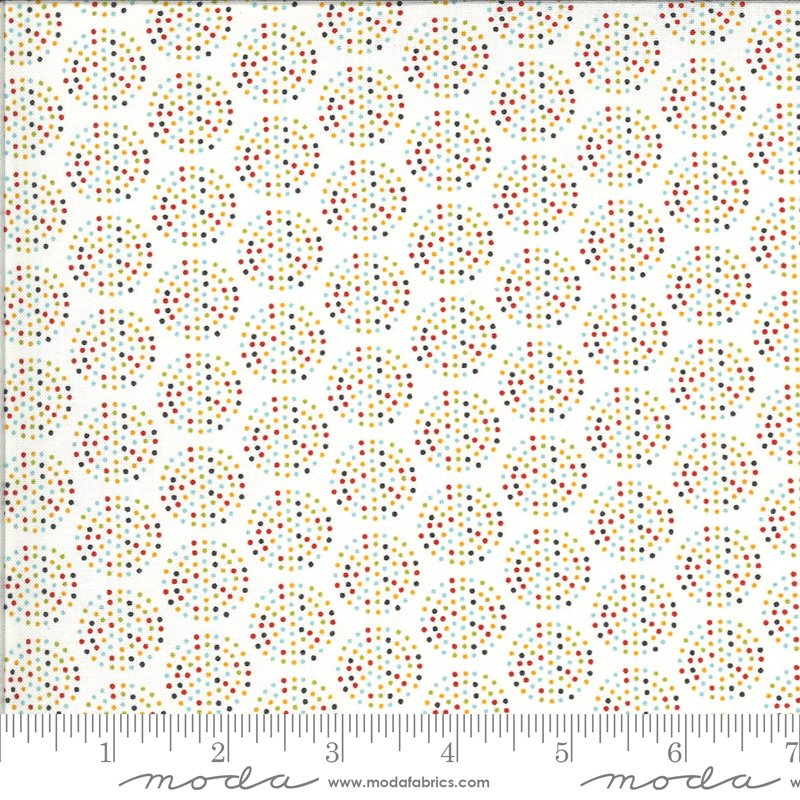 Animal Crackers - Dots on Vanilla / Multi by Sweetwater for Moda