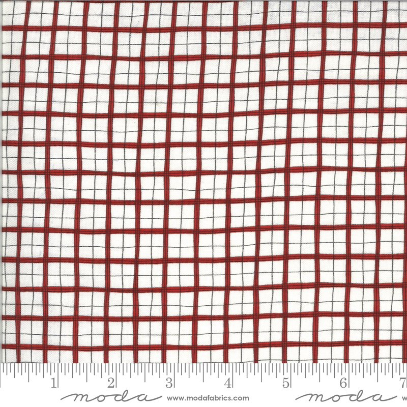 Animal Crackers - Plaid in Apple Red by Sweetwater for Moda